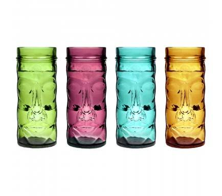 Tiki Coloured Glass