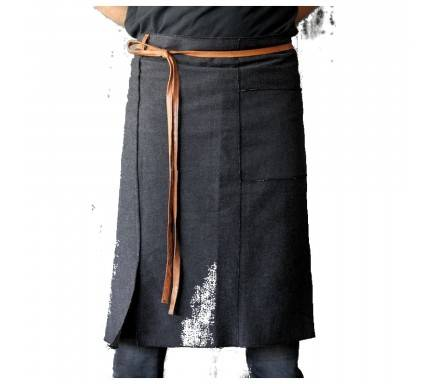 Avental/Black Cotton Jean Waist Apron