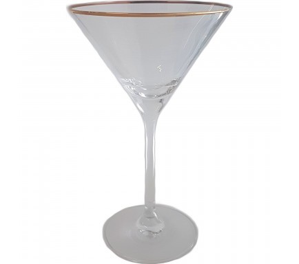 Copo Martini Gold Rim 210 Ml
